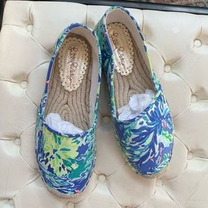 NEW Lilly Pulitzer Espadrille Flats size 7